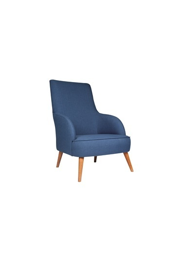 Ze10 Design Folly Island Tekli Koltuk Gece Mavisi Mavi